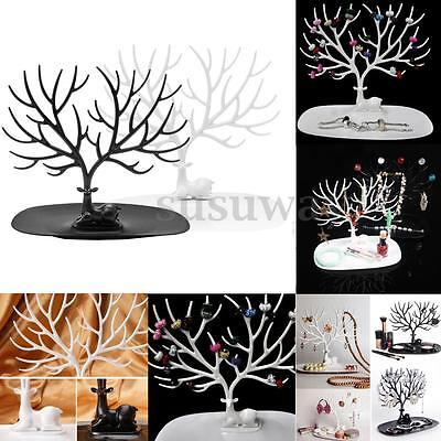 Jewelry Necklace Ring Earring Deer Tree Stand Display Organizer Show Rack Holder