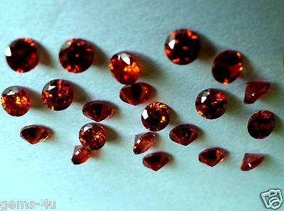Lab Created Russian Garnets Round Gemstones 4Mm Fast & Free Delivery