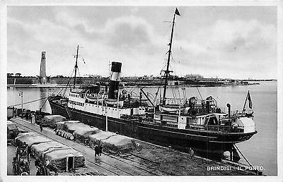 POSTCARD   ITALY   BRINDISI  The  Port