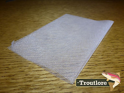 White Hareline Dubbin Non-Fray Winging Material - New Fly Tying Materials