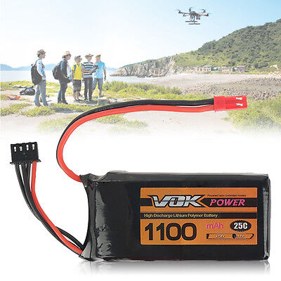 2S/3S/4S Lipo Battery 7.4V ~14.8V T/XT60/JST Discharger Plug for RC Racing Drone