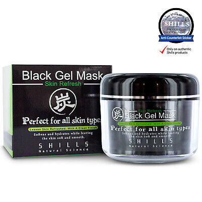 Shills AUTHENTIC Black Gel Mask for All Skin Type (Soften/Hydrate/Refresh) 150ml
