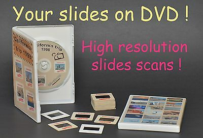 200 Film Slides High Resolution Digital Scan To Dvd $99.95