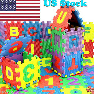 36PCS Foam Baby Child Play Mat Number Alphabet Puzzle Maths Educational Toy Gift