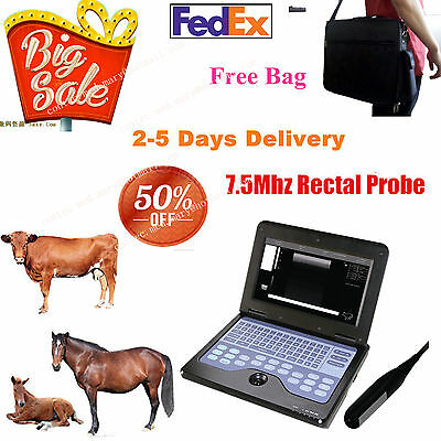 VET Veterinary portable Ultrasound Scanner Machine For cow/horse/Animal,rectal.