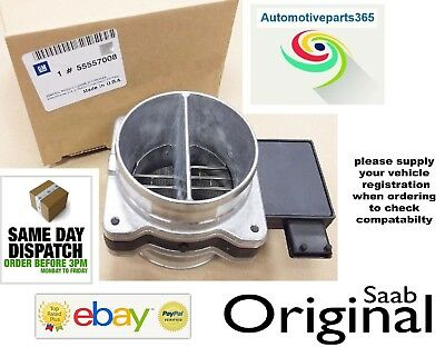 New Genuine Saab 9-3 9-5 93 95 Air Mass Meter, Air Flow Sensor, Maf 55557008