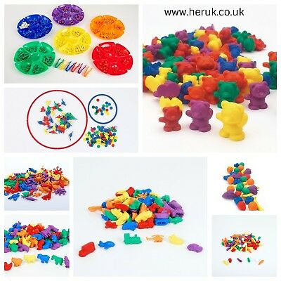 Counters sticks, animals, dinosaur, bears + more Pattern Maths SEN
