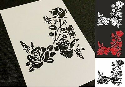 #2 Flowers Roses Airbrush Stencil Wall Cake Bags Cards Decoration Mylar Reusable