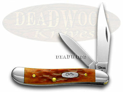 CASE XX Chestnut Bone CV Peanut Pocket Knife Knives