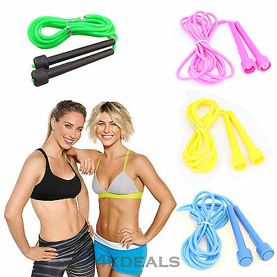 Plastic Skipping Rope Jumping Speed Boxing GYM Fitness Workout Aerobic Exercise