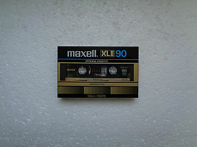 Vintage Audio Cassette MAXELL XLII 90 Epitaxial * Rare From Japan 1982 *