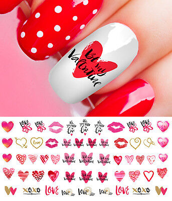 Valentines Day Heart Assortment Set #3  Nail Art Decals - Salon Quality!
