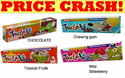 DENTAL Children/Kids Toothpaste Tropical,Strawberry,Chocolate,Chewing gum 50ml