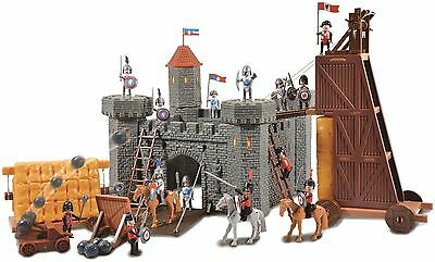 Vinsani Children Kids Large Castle Knights Creative Imaginative Toy Playset