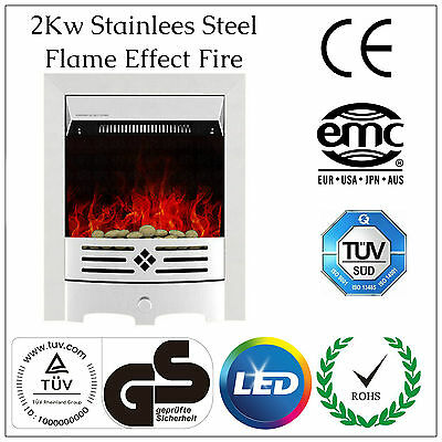 2KW Modern Electric Fireplace LED Flame Insert Fire Place Heater Stove Freestand