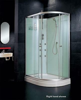 1200x800 Offsett Quad Shower Enclosure Cubicle All in One Combination Tray Doors