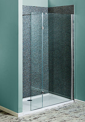 Wet Room Glass Walk In 8mm Toughened Glass