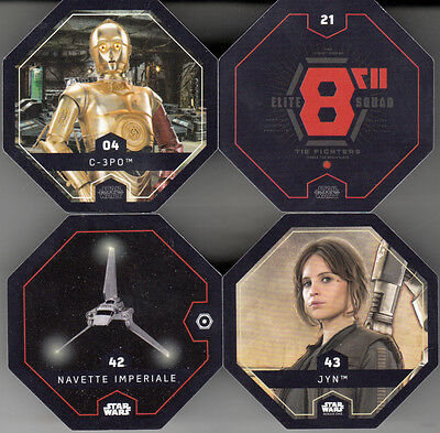 "Lot De 4 X Cartes Star Wars ""Rogue One / 2016""."