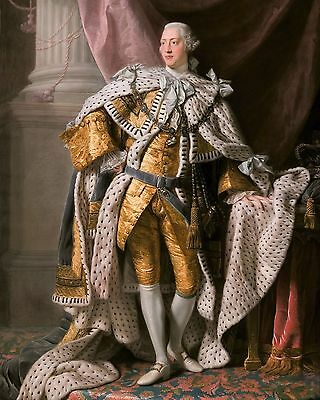 KING GEORGE III OF THE UNITED KINGDOM Glossy 8x10 Photo Great Britain Poster