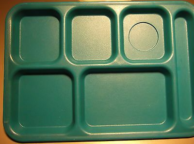 LOT of 4 - 6 Compartment School Cafeteria Lunch Trays Outdoor Camping Picnic