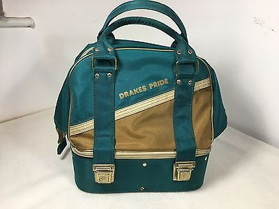 Vintage Green And brown Drakes Pride four bowls carrier bag
