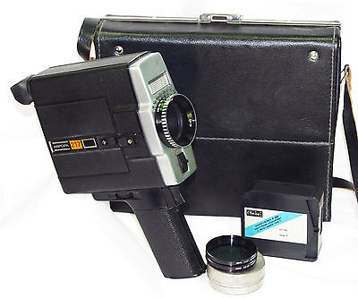 AURORA 217 Russian Movie Super-8 camera USSR 1982 LOMO w/case cassette Avrora