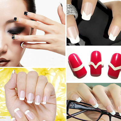 240pcs Nail Art Sticker Bandelette Guide Tips Ongle Vernis French Manucure