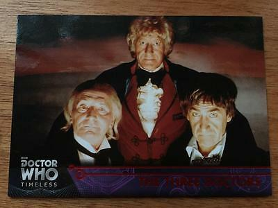 2016 Topps DOCTOR WHO Timeless #14 - The Three Doctors - Red Parallel 21/25