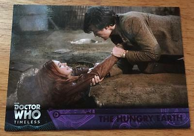 2016 Topps DOCTOR WHO Timeless #73 - The Hungry Earth - Purple Parallel 31/50