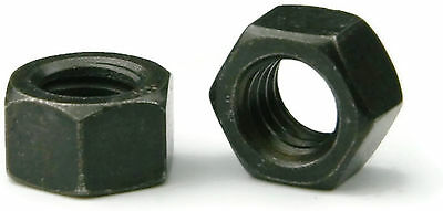 Black Oxide Stainless Steel Finished Hex Nut UNC 3/8-16, Qty 25