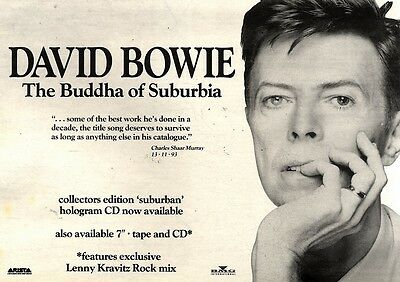 """4/12/93Pgn23 David Bowie : The Budha Of Suburbia Single Advert 7X11"""""""