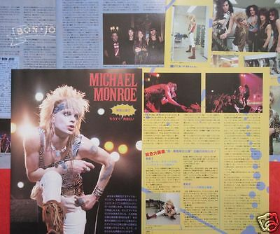 Michael Monroe Bon Jovi 1990 Clipping Japan Magazine Ml 4A 9Page