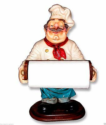 Chef Statue - Chef Cook Statue - Chef Statue Paper Towel Holder - 2 FT