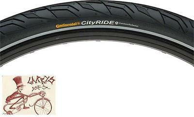 "Continental City Ride 2 Reflex 26"" X 1.75"" Black Wire Bead Bicycle Tire"