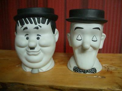 1989 Laurel & Hardy Great Entertainer Stein Mugs-Limited & Signed Editions-RARE!