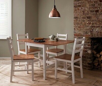 Dropleaf Dining Table with Chairs Kitchen Spacesaving Annika