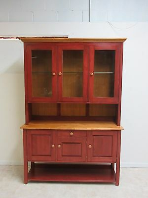 Ethan Allen Country Colors China Cabinet Hutch Display Curio