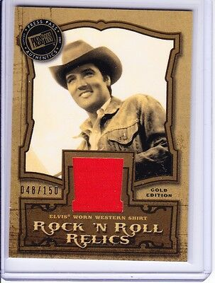2007 Press Pass Elvis Presley The Music Rock N Roll Relic Gold Edition 048/150