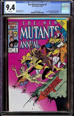 New Mutants Annual # 2 CGC 9.4 White (Marvel, 1986) 1st appearance Psylocke
