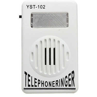 Extra-Loud Phone Telephone Ringtone Ringer up to 95dB w/ Flasher Bell Ringer New