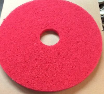Case Of (5) 17 Inch Red Spray Buffing Pads #20050