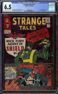 Strange Tales # 135 CGC 6.5 CRM/OW (Marvel, 1965) 1st Nick Fury Agent of Shield