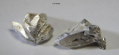 2+ Grams lot of .999 crystalline silver large crystals / nuggets 99.999% pure