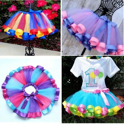Kids Baby Girl Birthday Wedding Pageant Party Princess Lace Tutu Flower Dress