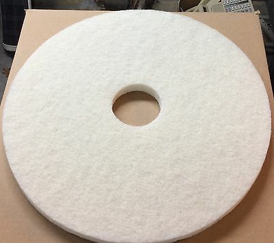 Case Of (5) 17 Inch White Dry Polish Buffing Pads #14417