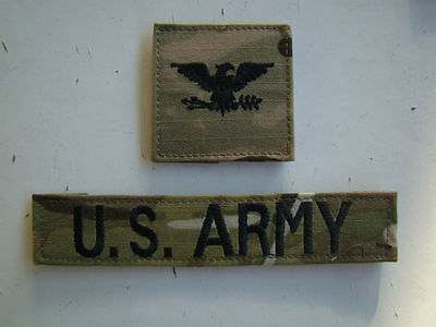 Us Army Iraq & Afghanistan Issue Colonel Multicam Combat Branch Of Service Tapes