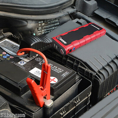 12V 800A Portable Car Jump Starter Auto Battery Booster Power Bank USB Charging