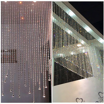 30M Garland Acrylic Crystal Bead Wedding DIY Party Home Hanging Decoration WV36