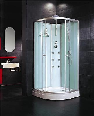 700mm Corner Opening Quad Shower Enclosure Cubicle Complete Cabin Enclosure Tray