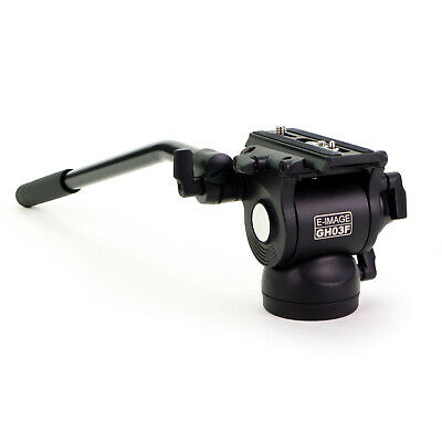 E-Image GH-03F Flat Base Fluid Video Head for Slider & Photography Tripod DSLR